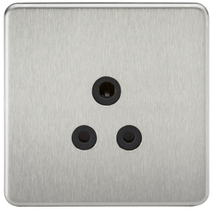 Screwless 5A Unswitched Round Socket-SF5A-Knightsbridge