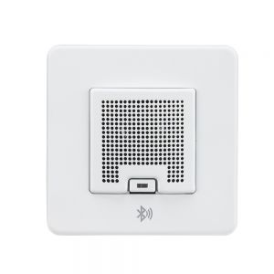 Knightsbridge SFBLUEMW Screwless 3W RMS Bluetooth Speaker Outlet - Matt White