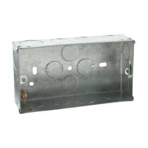 2G 35mm Galvanised Steel Box-SG235-Knightsbridge