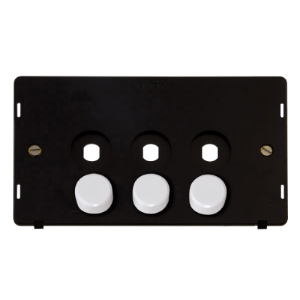 SIN 3 GANG DOUBLE DIMMER PLATE INSERT-SIN143PL-Scolmore