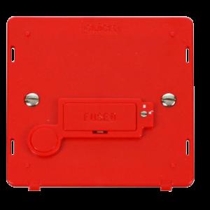 13A FCU + F/O (LOCK) INSERT - RED - SIN249RD - Scolmore