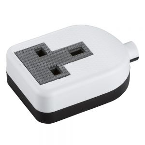 Knightsbridge 13A 1G trailing socket - white SN2013W