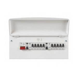 MK Sentry K7666SMET 10 Way Pre Populated Consumer Unit
