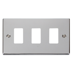 GRIDPRO 3 GANG DECO PLATE - VP**20403 - Scolmore