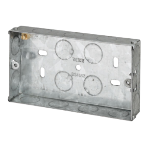 2 GANG 25MM K/O GALV.METAL BOX-WA094-Scolmore