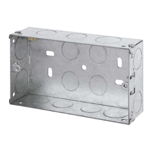 2 GANG 35MM K/O GALV.METAL BOX-WA096-Scolmore
