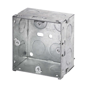 1 GANG 47mm K/O GALV.METAL BOX-WA097-Scolmore