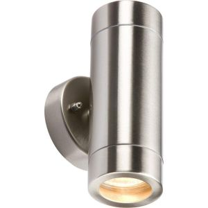 Knightsbridge IP65 Lightweight Stainless Steel/Black Up and Down Light GU10 35W