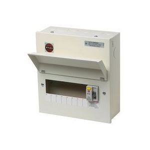 Wylex RCD Metal Cased 8 Way 100A Amendment 3 Consumer Unit NMRS806