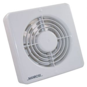 Manrose XF150BSLV Wall/ Ceiling Fan
