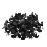 100x4mm Black Cable Wall Clips,Cable Wall Nails Manages Electric Wire Clips