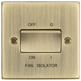 pole fan isolator switch square edge antique brass