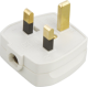 13A Plug Top 13A Fused - Screw / Cord Grip - White-1383-Knightsbridge