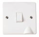 1-GANG 2-POLE 20A SWITCH WITH F/OUTLET-CMA022-Scolmore