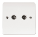 COAXIAL SOCKET TWIN OUTLET-CMA066-Scolmore