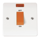 1-GANG45A D/P SWITCH WITH NEON-CMA201-Scolmore