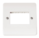 SINGLE SWITCH PLATE 3 GANG APERTURE-CMA403-Scolmore