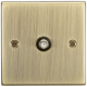 SAT TV Outlet - Square Edge Antique Brass-CS015AB-Knightsbridge
