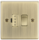 13A Switched Fused Spur Unit - Square Edge Antique Brass-CS63AB-Knightsbridge