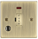 13A Fused Spur Unit with Neon & Flex Outlet - Square Edge Antique Brass-CS6FAB-Knightsbridge
