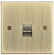 Telephone Master Outlet - Square Edge Antique Brass-CS73AB-Knightsbridge