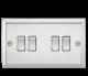 10A 4G 2 Way Plate Switch - Bevelled Edge Polished Chrome-CV41PC-Knightsbridge