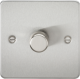 Flat Plate 1G 2 Way 40-400W Dimmer-Brushed Chrome-FP2171BC-Knihgtsbridge