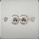 Flat Plate 10A 2G 2-way toggle switch-FP2TOG-Knightsbridge