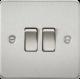 Flat Plate 10A 2G 2-way switch-FP3000-Knightsbridge