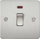 Flat Plate 20A 1G DP switch with neon-FP8341N-Knightsbridge