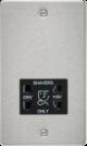 Flat Plate 115/230V dual voltage shaver socket-FP8900-Knightsbridge