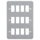 Metalclad 12G grid faceplate-GDFP0012M-Knightsbridge