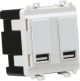 Dual USB charger module (2 x grid positions) 5V 2.4A (shared) -GDM016-Knightsbridge