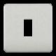 Screwless 1G grid faceplate-GDSF001-Knightsbridge