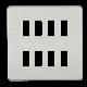 Screwless 8G grid faceplate-GDSF008-Knightsbridge