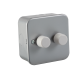 Metal Clad 2G 2 Way 60-400W Dimmer-M2162-Knightsbridge