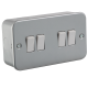 Metal Clad 10A 4G 2 Way Switch-M4100-knightsbridge