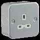 Metal clad 13A 1G Unswitched Socket-MR7000U-Knightsbridge