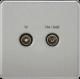 Screwless Screened Diplex Outlet (TV & FM DAB)-SF0160-Knightsbridge