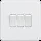 Screwless 10A 3G 2-Way Switch - SF4000 - Knightsbridge-Matt  White
