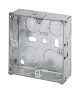 1 GANG 25mm K/O GALV.METAL BOX-WA093-Scolmore