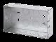 2 GANG 35MM K/O GALV.METAL BOX-WA096-Scolmore
