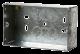 2 GANG 47mm K/O GALV. METAL BOX-WA098-Scolmore