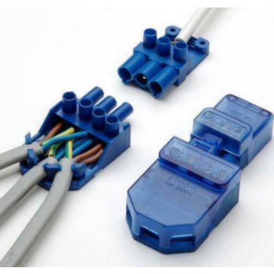CT101C Click Flow 3 Pin Connector Pull Apart PACK OF 20