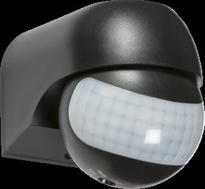 IP44 180° Mini PIR Sensor - Black