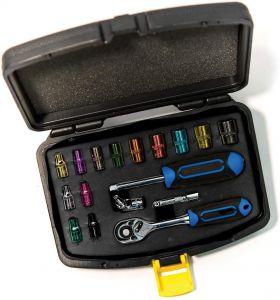 CK Tools 17 Piece Coloured 1/4