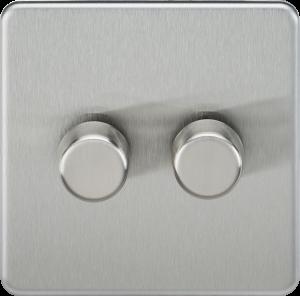 Screwless 2G 2-Way 40-400W Dimmer Switch-SF2182-Knightsbridge