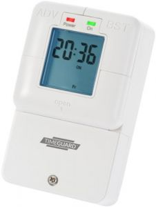 Slimline 16A 7 day Electronic with cover Immersion Heater Timeswitch-NTT08-TIMEGUARD