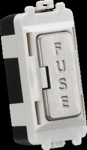 13A fused module - brushed chrome