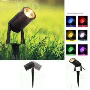 ALL LED  5W 3000K LED IP65 SPIKE LUMINAIRE INTERCHANGEABLE COLOUR FILTERS INCLUDED